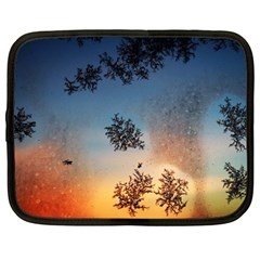 Hardest Frost Winter Cold Frozen Netbook Case (large)