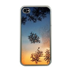 Hardest Frost Winter Cold Frozen Apple Iphone 4 Case (clear)