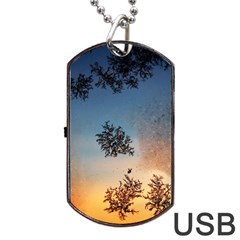 Hardest Frost Winter Cold Frozen Dog Tag Usb Flash (one Side)