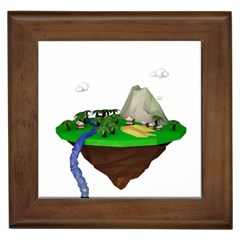 Low Poly 3d Render Polygon Framed Tiles
