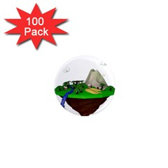 Low Poly 3d Render Polygon 1  Mini Magnets (100 Pack)