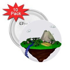 Low Poly 3d Render Polygon 2 25  Buttons (10 Pack)