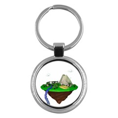 Low Poly 3d Render Polygon Key Chains (round)