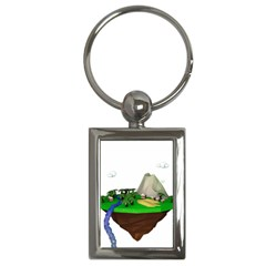 Low Poly 3d Render Polygon Key Chains (rectangle)