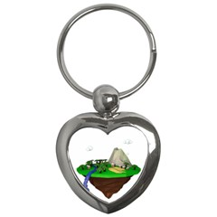 Low Poly 3d Render Polygon Key Chains (heart)