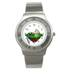 Low Poly 3d Render Polygon Stainless Steel Watch