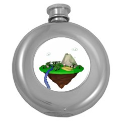 Low Poly 3d Render Polygon Round Hip Flask (5 Oz)