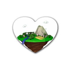Low Poly 3d Render Polygon Heart Coaster (4 Pack)