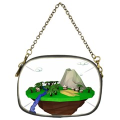 Low Poly 3d Render Polygon Chain Purses (one Side)