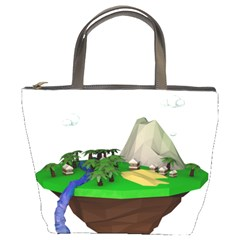 Low Poly 3d Render Polygon Bucket Bags