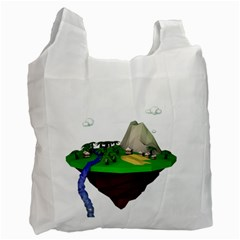 Low Poly 3d Render Polygon Recycle Bag (two Side)