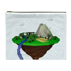 Low Poly 3d Render Polygon Cosmetic Bag (xl)