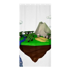 Low Poly 3d Render Polygon Shower Curtain 36  X 72  (stall)