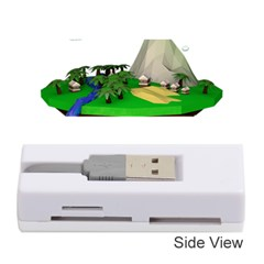 Low Poly 3d Render Polygon Memory Card Reader (stick)