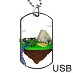 Low Poly 3d Render Polygon Dog Tag Usb Flash (two Sides)
