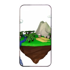 Low Poly 3d Render Polygon Apple Iphone 4/4s Seamless Case (black)