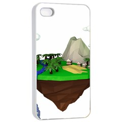 Low Poly 3d Render Polygon Apple Iphone 4/4s Seamless Case (white)