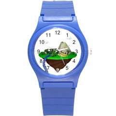 Low Poly 3d Render Polygon Round Plastic Sport Watch (s)
