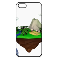 Low Poly 3d Render Polygon Apple Iphone 5 Seamless Case (black)