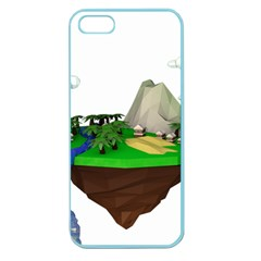 Low Poly 3d Render Polygon Apple Seamless Iphone 5 Case (color)