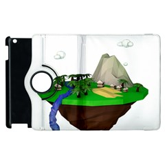 Low Poly 3d Render Polygon Apple Ipad 3/4 Flip 360 Case