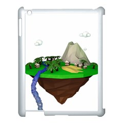 Low Poly 3d Render Polygon Apple Ipad 3/4 Case (white)