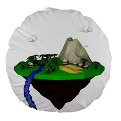 Low Poly 3d Render Polygon Large 18  Premium Round Cushions