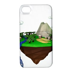 Low Poly 3d Render Polygon Apple Iphone 4/4s Hardshell Case With Stand