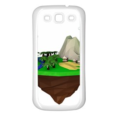 Low Poly 3d Render Polygon Samsung Galaxy S3 Back Case (white)