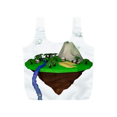 Low Poly 3d Render Polygon Full Print Recycle Bags (s)