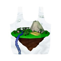 Low Poly 3d Render Polygon Full Print Recycle Bags (m)