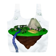 Low Poly 3d Render Polygon Full Print Recycle Bags (l)