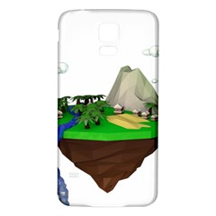 Low Poly 3d Render Polygon Samsung Galaxy S5 Back Case (white)