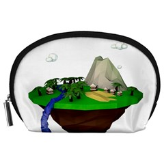Low Poly 3d Render Polygon Accessory Pouches (large)