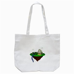 Low Poly 3d Render Polygon Tote Bag (white)