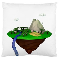 Low Poly 3d Render Polygon Standard Flano Cushion Case (one Side)