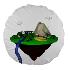 Low Poly 3d Render Polygon Large 18  Premium Flano Round Cushions