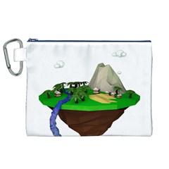 Low Poly 3d Render Polygon Canvas Cosmetic Bag (xl)