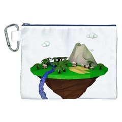 Low Poly 3d Render Polygon Canvas Cosmetic Bag (xxl)