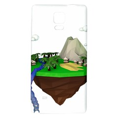 Low Poly 3d Render Polygon Galaxy Note 4 Back Case