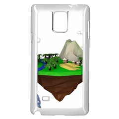 Low Poly 3d Render Polygon Samsung Galaxy Note 4 Case (white)