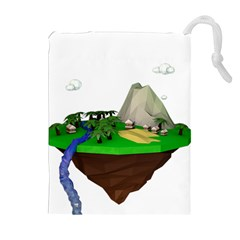 Low Poly 3d Render Polygon Drawstring Pouches (extra Large)