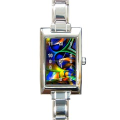 Light Texture Abstract Background Rectangle Italian Charm Watch