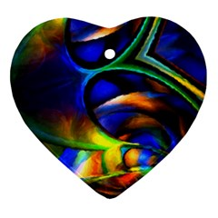 Light Texture Abstract Background Ornament (heart)