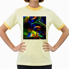 Light Texture Abstract Background Women s Fitted Ringer T Shirts