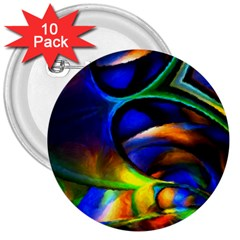 Light Texture Abstract Background 3  Buttons (10 Pack)