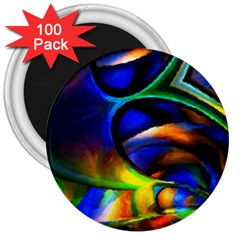 Light Texture Abstract Background 3  Magnets (100 pack)