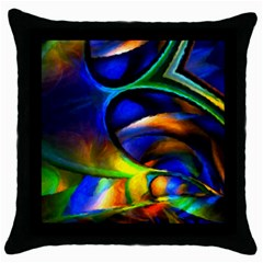Light Texture Abstract Background Throw Pillow Case (black)
