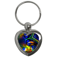 Light Texture Abstract Background Key Chains (heart)