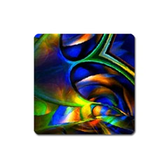 Light Texture Abstract Background Square Magnet